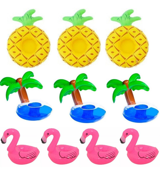 Boia Porta Copo Coqueiro + Flamingo + Abacaxi Decoração C 10
