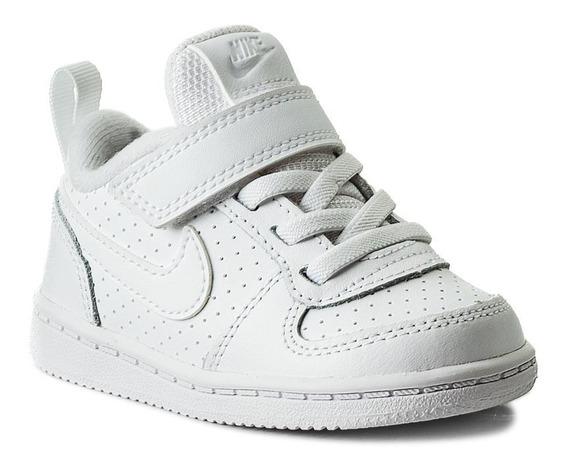 Tenis Nike Court Borough Low Blanco 870029-100