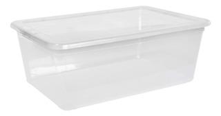 Caja Organizadora Transparente Plástica Apilable 10 Lts.