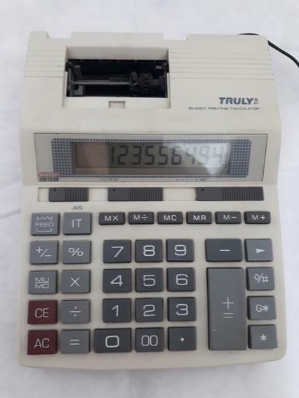 Calculadora De Mesa Truly - 10 Digit Printing Calculeitor