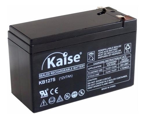 Imagen 1 de 5 de Bateria Alarma 12v 7ah 7a Recargable Leds Ups Garantia 1 Año