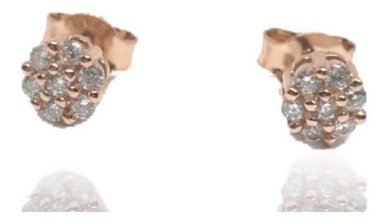 Brinco Prata 925 Segundo Furo Florzinha Ouro Rosé