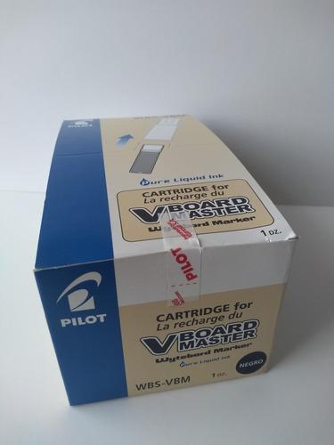 Tinta Para Plumón Pilot Para Pizarra Caja X 12 Cartuchos
