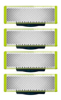 4 Lâminas Oneblade Para Barbeador Philips Refil De Reposição