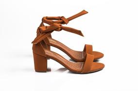Sandália De Amarração Bege