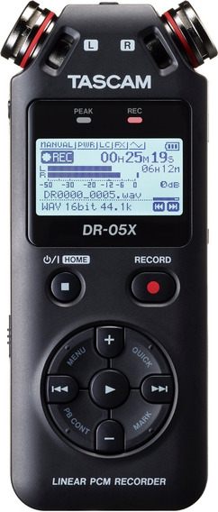 Gravador Voz Tascam Dr-05x Digital Audio Portátil Mp3