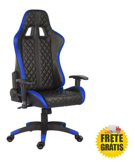 Cadeira Gamer Pro Phantom Azul Giratoria Relax