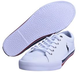 Tenis Polo Ralph Lauren Unisex Tipo Piel Color Blanco