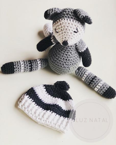 Gorro Bebé Tejido Al Crochet Hilo De Algodón Hipoalergénico