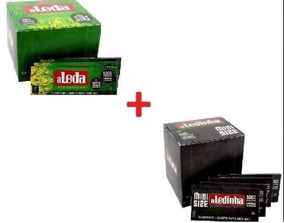 Kit 01 Cx Aleda Celulose + 01 Aledinha Seda Original Smoking