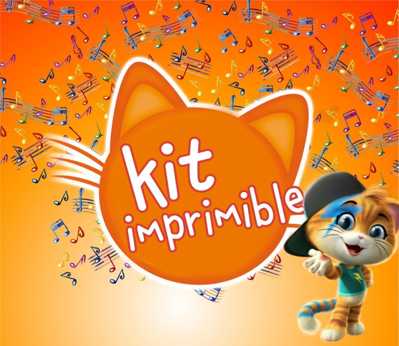 44 Cats Kit Imprimible Personalizado