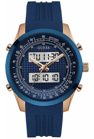 Relógio Guess Masculino Pulseira Azul - Original Na Etiqueta