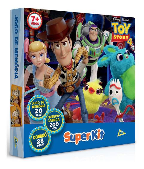 Super Kit Toy Story Quebra Cabeça +jogo De Memória +dominó
