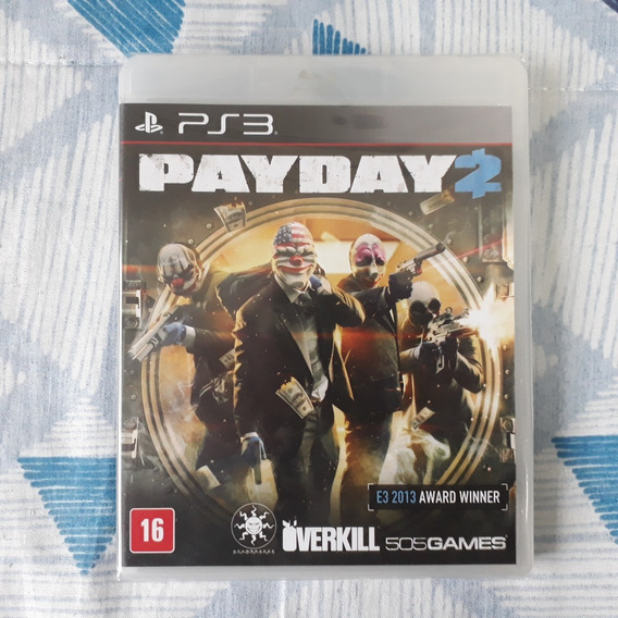 Playstation 3 Payday 2 + Manual + Case - Lacrado De Fábrica