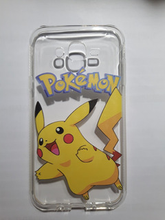 Kit Com 2 Capa Galaxy J7 Pokémon + Película De Vidro