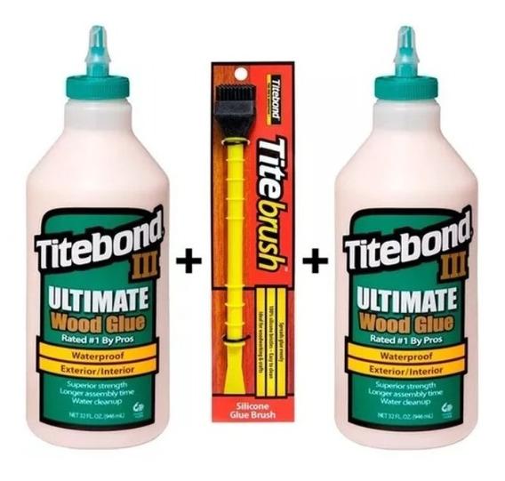 Titebond Iii Cola P/ Madeira Kit C/ 2kg + Pincel Titebrush
