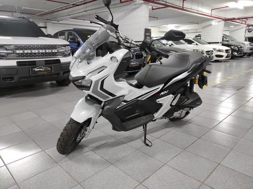 Imagem 1 de 9 de Honda Adv 150 Abs 2021 Branca 48km Documentada Cartao Em 18x