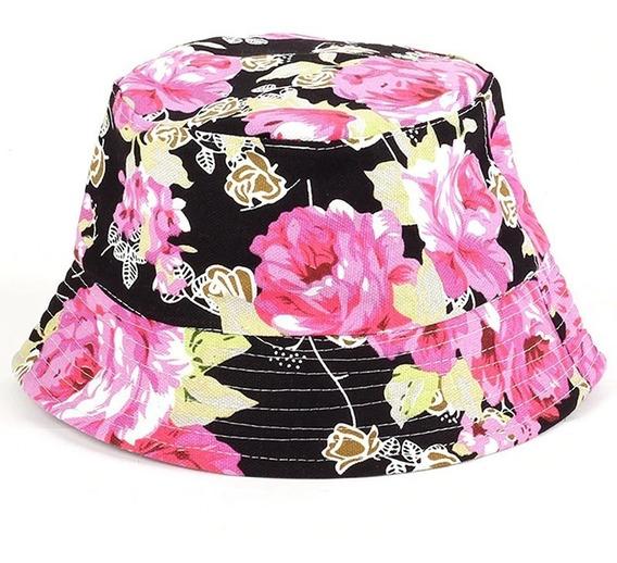 Boné Chapéu Bucket Hat Preto Floral Margarida Diversas Estampas Cores Verao Novidade Moda