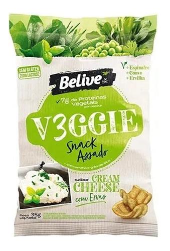 Imagem 1 de 1 de Veggie Snack Belive Sabor Cream Cheese Com Ervas 35g