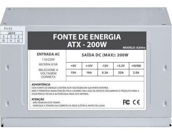 Fonte De Energia Life Data 200w