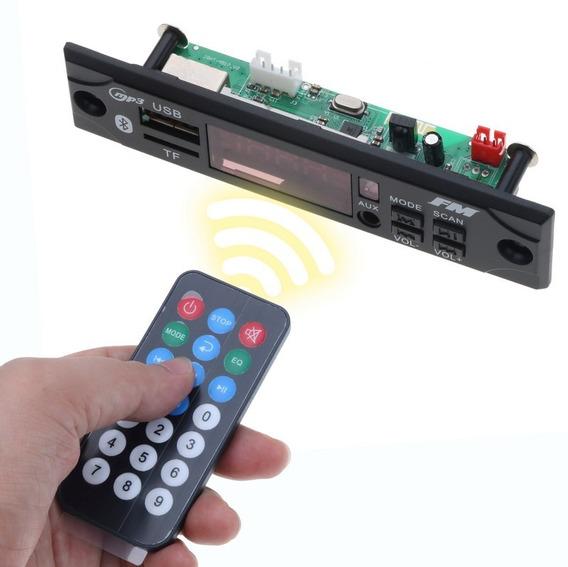 Placa Leitor Usb Bluetooth Módulo Decodificador De Audio