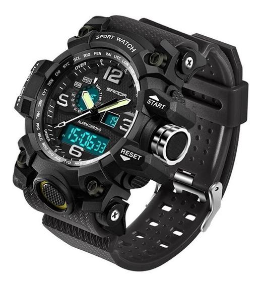Relógio Masculino Grand Led Digital Esportivo Preto Exército