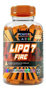 Lipo 7 Fire Power Labs 120 Caps (melhor Que Lipo E Oxyelit)