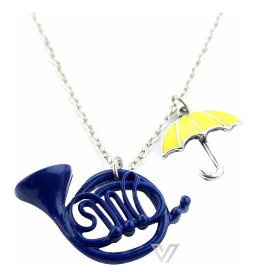 Colar How I Met Your Mother Blue French Horn + Umbrella