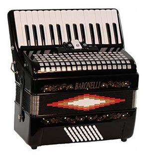 Baronelli 30 Key 48 Bass, Acordeon De Piano De 3 Interruptor
