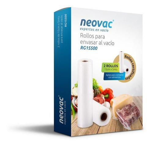 Rollo Bolsa Gofrada Para Vacio Neovac Pack 2x  15x500 Cm