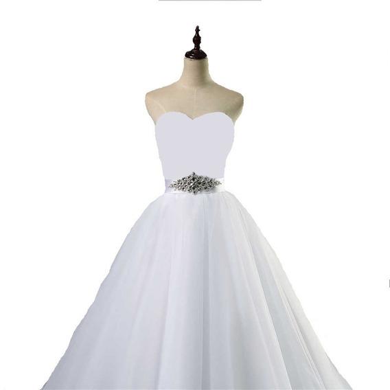 Vestido Blanco Corte Princesa