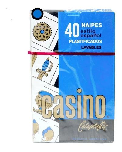 Cartas Naipes Españoles Casino X 40 Plastificados En Caja
