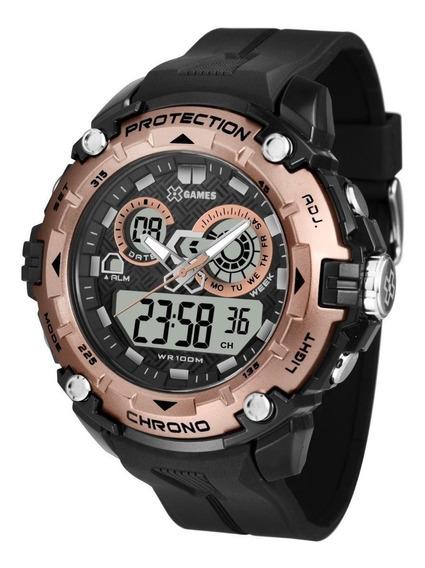 Relógio X-games Masculino Anadigi Xmppa274 Bxpx Preto Rose