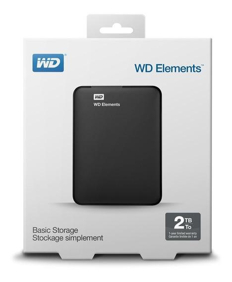 Disco Duro Portable 2 Tb Wd Elements Usb 3.0 Nuevo En Caja