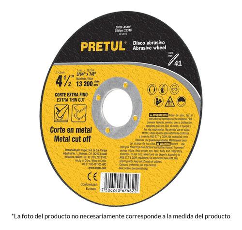 10 Disco Corte Extrafino Metal Uso General 4 1/2pg 1.2mm