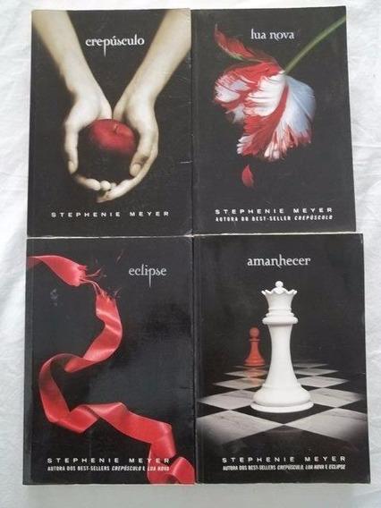 * 4 Livros Stephenie Meyer Crepúsculo Lua Nova Amanhecer Ecl