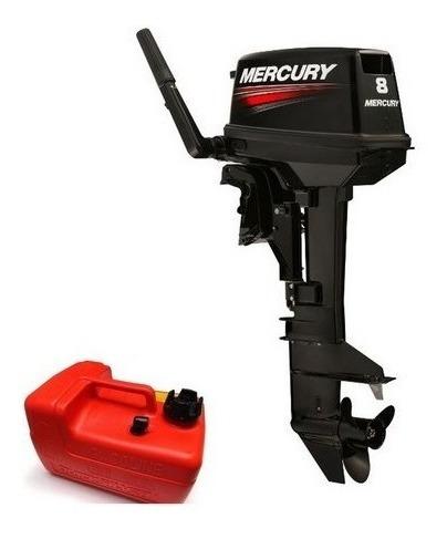 Motor Popa Apoio Veleiro Mercury 8hp Ml 2 Tempo Rabeta Longa