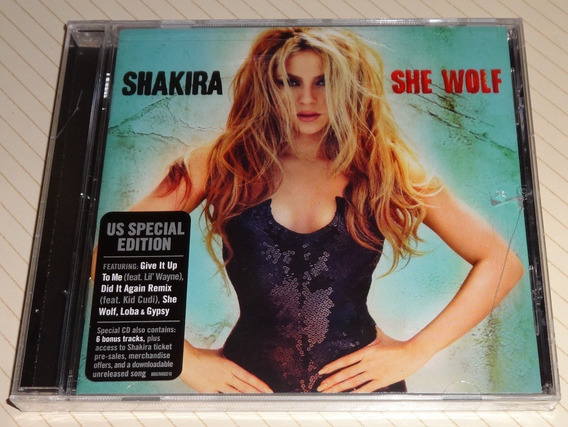Shakira She Cd Wolf Edicion Usa + 4 Bonus Tracks Thalia