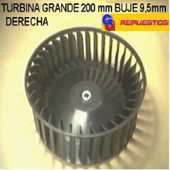 Turbina Purificador 200mm Grande Buje 9,5mm Derecho Alto 6.5
