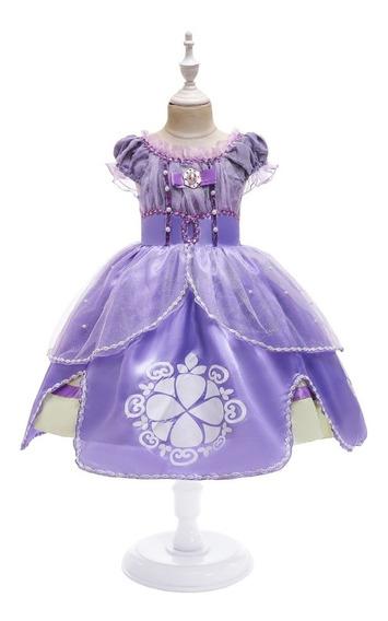 Dizflaces Vestido De Princesa De Sofía Para Niñas