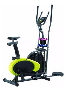 Eliptico Megafit 4 En 1 Escalador + Bici + Pesas + Cintura