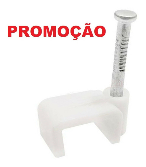 Kit 500 Unid Miguelão 4mm Fixa Fio Retangular Rg59 Drop Flat