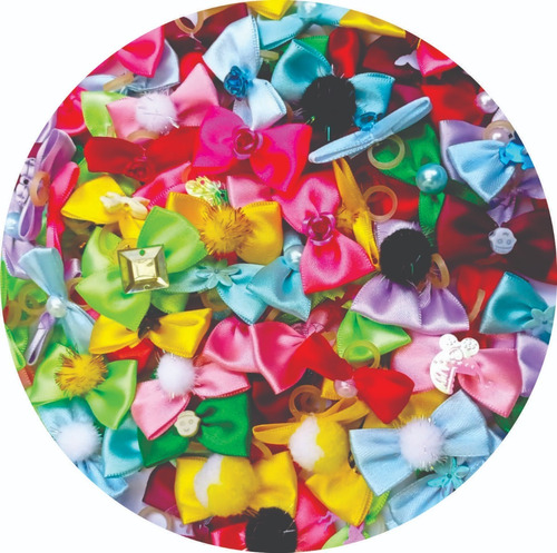 Kit 50 Lacinhos Banho Tosa + 50 Gravatinhas Para Pet Shop