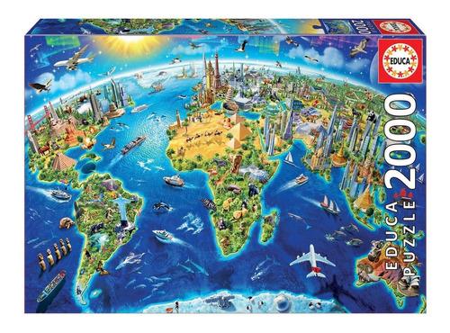Puzzle Educa X 2000 Simbolos Del Mundo Art 17129 Loonytoys