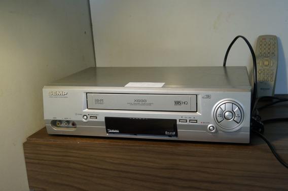 Vídeo Cassete Semp Stéreo X698-usado + Controle- Anúncio 03