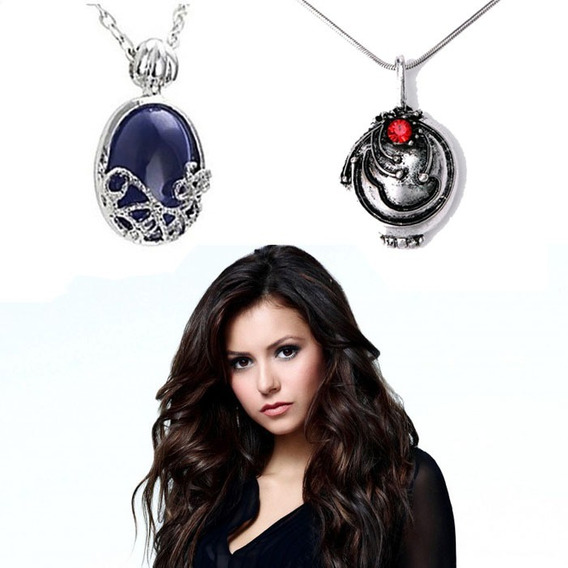 The Vampire Diaries Kit Colar 2 Elena & Katherine + Brinde