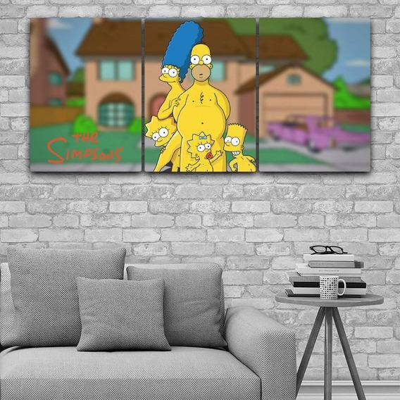 Cuadros Tripticos Modernos The Simpsons 64x30cms Catalogo