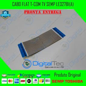 Cabo Flat T-com Tv Semp Le3278i(a) Original Testado