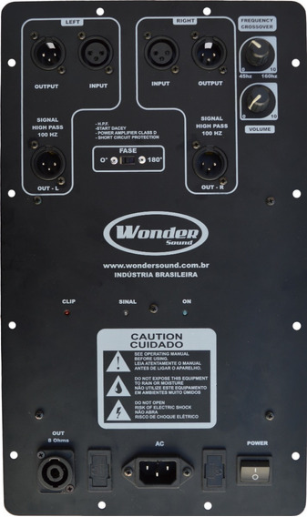 Modulo In Box 1800 Rms Wonder Sound Som Profissional Quali