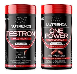 Kit Testron Precursor Hormonal + Termogênico 120 Cápsulas